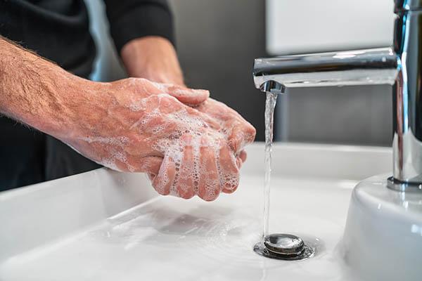 Corona Handen wassen
