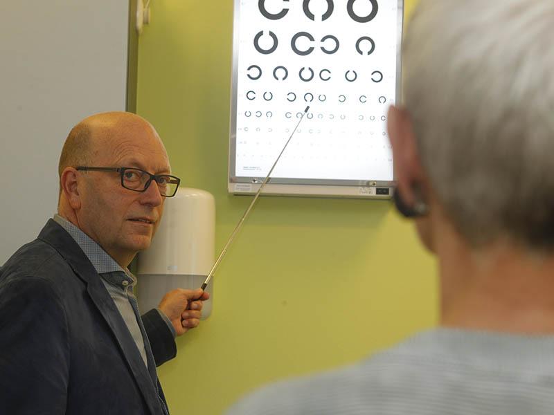 Oogcontrole dokter Zwietering